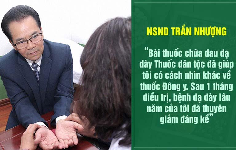 NSND Trần Nhượng hài lòng về kết quả điều trị của Sơ can Bình vị tán