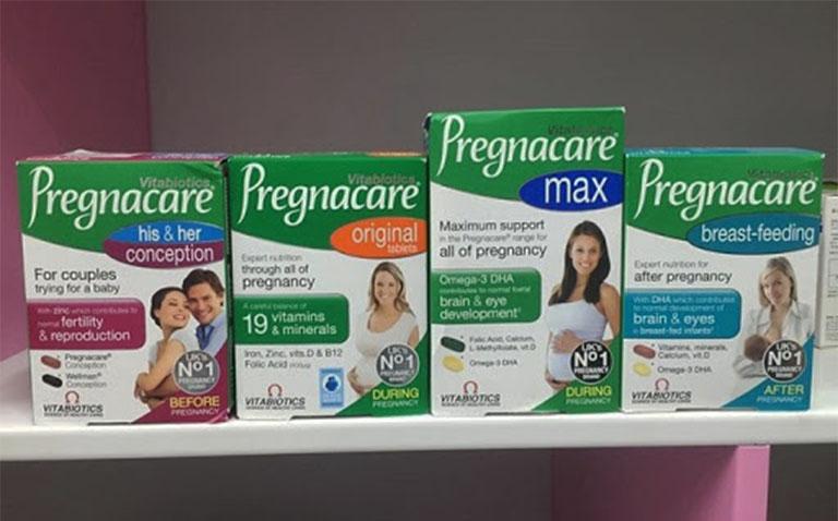 Các loại sản phẩm Pregnacare xuất hiện trên thị trường hiện nay