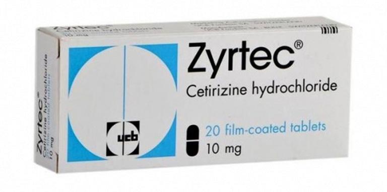 Zyrtec là thuốc thuộc nhóm kháng histamin có tác dụng làm giảm phản ứng histamin của cơ thể