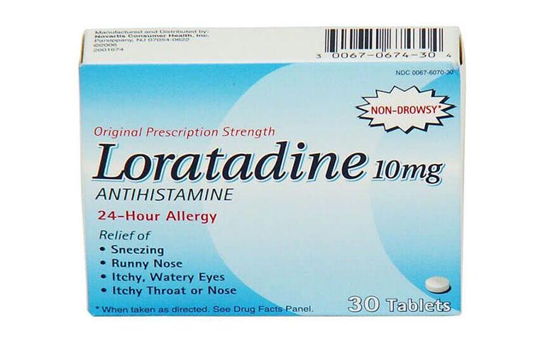 Thuốc Loratadine có tác dụng giúp cải thiện triệu chứng ngứa, hắt hơi, chảy nước mắt và nước mũi do viêm mũi dị ứng gây nên