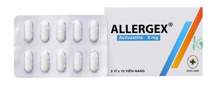 Thuốc Allergex có tác dụng điều trị viêm mũi dị ứng cho người lớn và trẻ em trên 12 tuổi