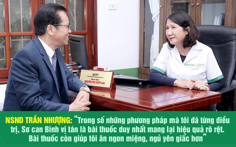 NSND Trần Nhượng chia sẻ hiệu quả chữa trào ngược dạ dày tại Thuốc dân tộc