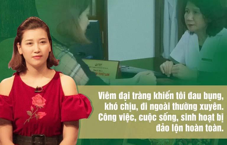 Bệnh nhân chữa khỏi viêm đại tràng chia sẻ trên VTV2