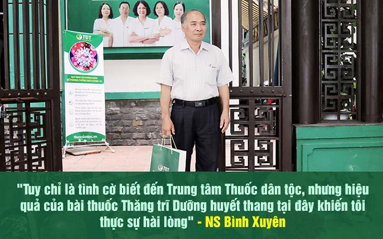 Nghệ sĩ Bình Xuyên đánh giá cao hiệu quả chữa bệnh trĩ tại Thuốc dân tộc