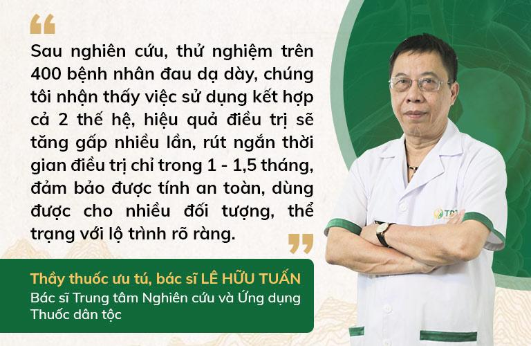 BS Lê Hữu Tuấn nhận định về bài thuốc