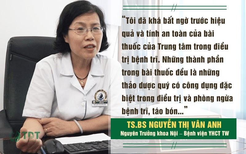 Đánh giá của Ts.Bs Nguyễn Thị Vân Anh về bài Thăng trĩ Dưỡng huyết thang