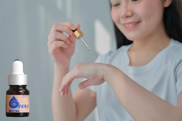 hướng dẫn sử dụng tinh dầu Ozone trị viêm nang lông