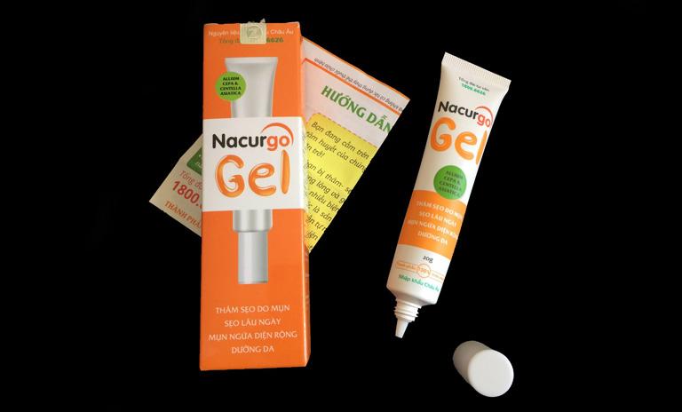 Một số lưu ý khi sử dụng sản phẩm Nacurgo Gel trị viêm nang lông, thâm mụn