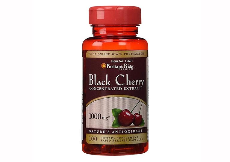 thực phẩm chức năng chữa bệnh guits Puritan's Pride Black Cherry 1000mg