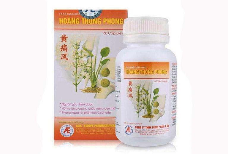 thực phẩm chức năng Hoàng Thống Phong hỗ trợ điều trị bệnh gút