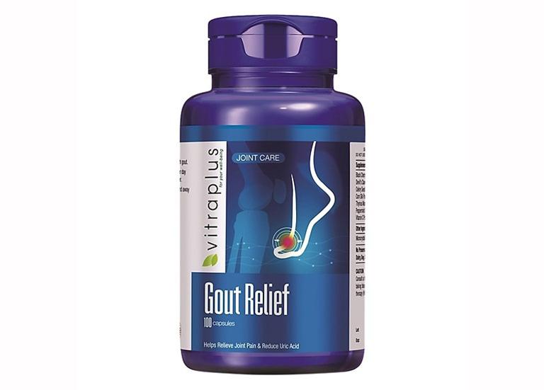 Thực phẩm chức năng hỗ trợ chữa bệnh gút VitraPlus Gout Relief của Canada
