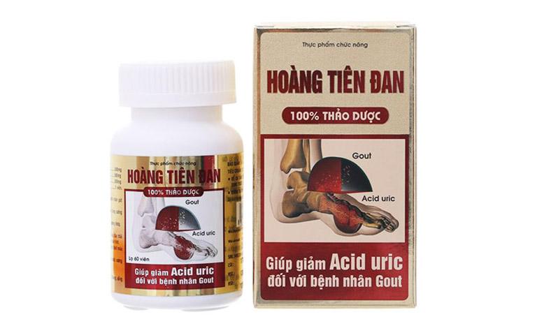 Hoàng Tiên Đan - Thực phẩm bảo vệ sức khỏe giúp hỗ trợ điều trị bệnh gút