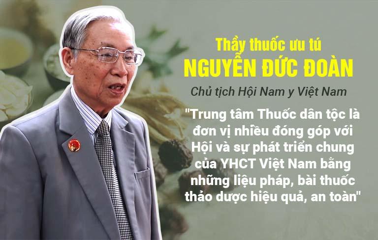 Thầy thuốc ưu tú Nguyễn Đức Đoàn đánh giá cao liệu pháp chữa phong ngứa Thuốc dân tộc