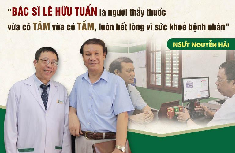 Nghệ sĩ Nguyễn Hải - một bệnh nhân của bác sĩ Lê Hữu Tuấn chia sẻ