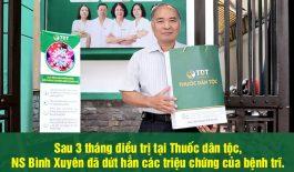 NS Bình Xuyên điều trị khỏi bệnh trị sau 3 tháng tại Thuốc dân tộc