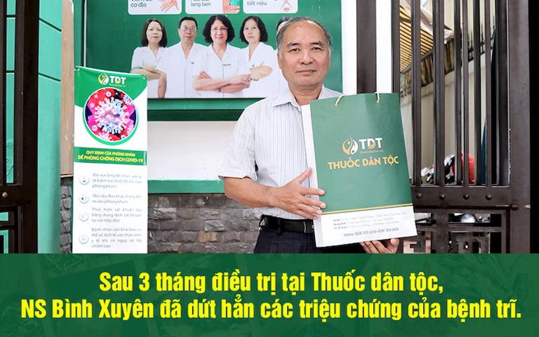 NS Bình Xuyên điều trị khỏi bệnh và hài lòng về chất lượng chữa trĩ tại Thuốc dân tộc