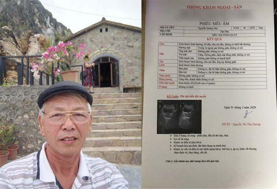 Bác Nguyễn Quang Xây phát hiện bệnh phì đại tiền liệt tuyến sau khi khám sức khoẻ