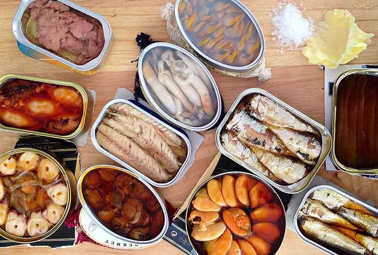 Thức ăn chế biến sẵn, thực phẩm đóng hộp