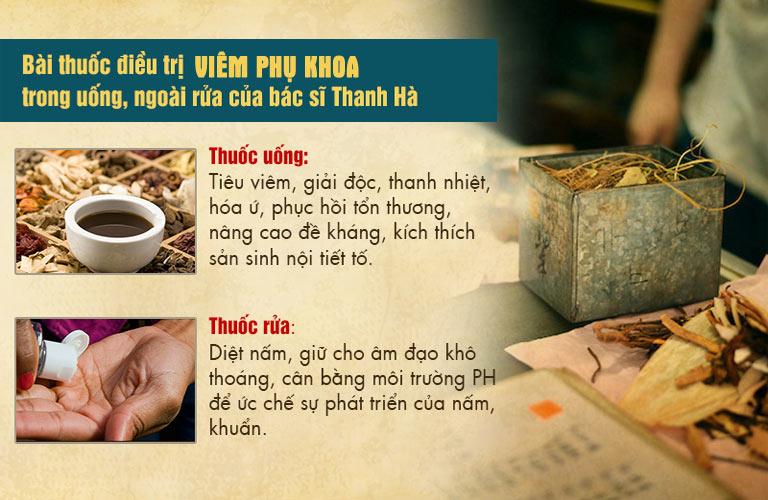 Bài thuốc của bác sĩ Hà là sự kết hợp của thuốc uống và thuốc ngâm rửa