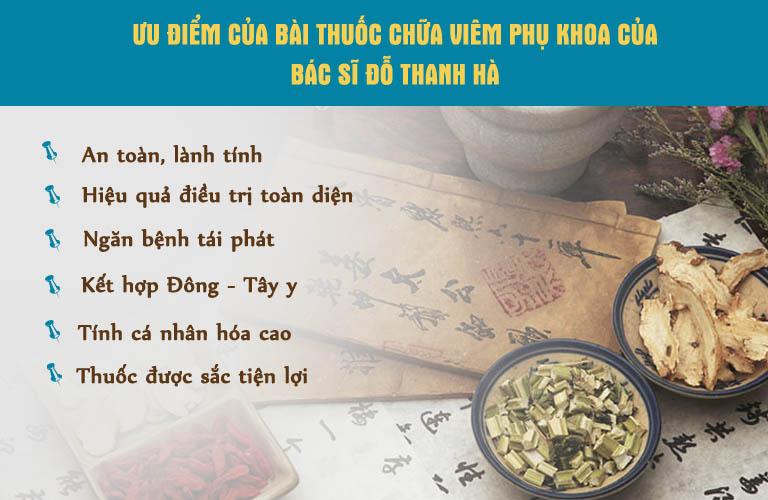 Ưu điểm bài thuốc chữa viêm phụ khoa của bác sĩ Thanh Hà