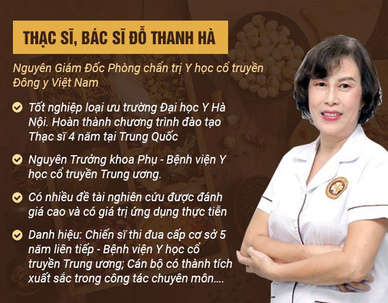 Thạc sĩ, bác sĩ Đỗ Thanh Hà - Cây đại thụ trong chữa bệnh sản phụ khoa bằng Đông y