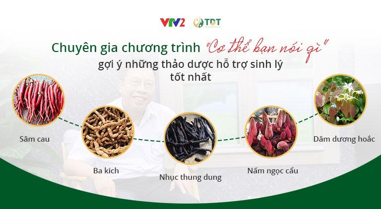Bác sĩ Lê Hữu Tuấn giới thiệu những thảo dược tốt cho sinh lý nam giới