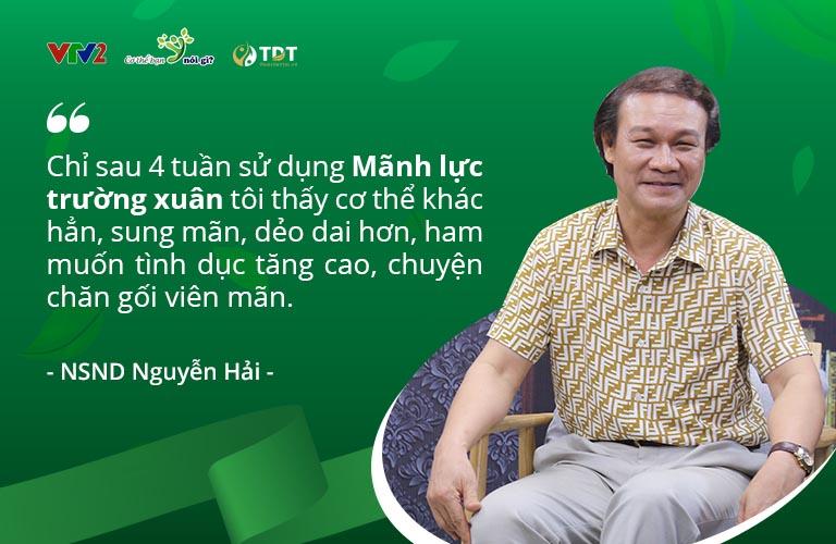 Nghệ sĩ Nguyễn Hải chia sẻ về hiệu quả của Mãnh lực trường xuân