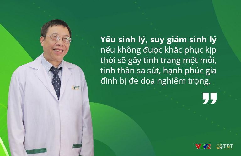 Bác sĩ Lê Hữu Tuấn chia sẻ nhiều thông tin về tình trạng suy giảm sinh lý ở nam giới