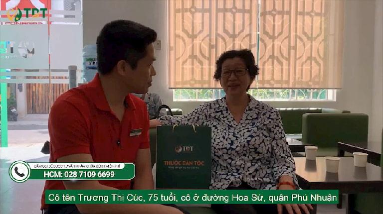 Cô Trương Thị Cúc - bệnh nhân chữa viêm đại tràng tại Thuốc dân tộc