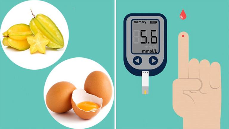 chữa bệnh tiểu đường bằng khế chua và trứng gà