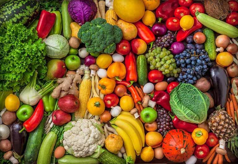 ăn - Rau xanh và những loại trái cây giàu chất xơ