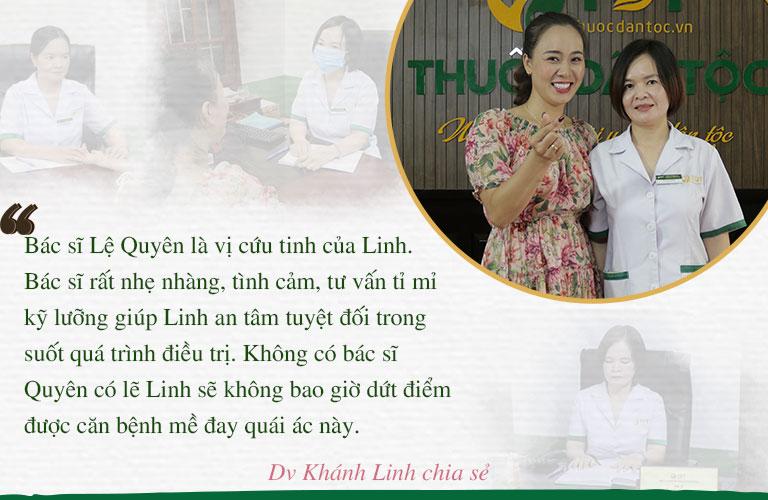 Diễn viên Khánh Linh rất quý trọng và tin tưởng bác sĩ Lệ Quyên