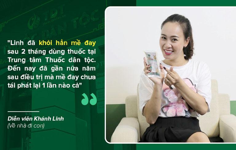 Diễn viên Phùng Khánh Linh khỏi hẳn mề đay mẩn ngứa tại Trung tâm Thuốc dân tộc