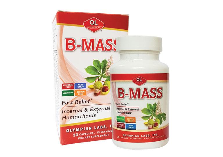 B-Mass là một sản phẩm chuyên hỗ trợ điều trị bệnh trĩ nội và bệnh trĩ ngoại được nhập khẩu từ Mỹ do hãng Olympian Labs nghiên cứu và sản xuất