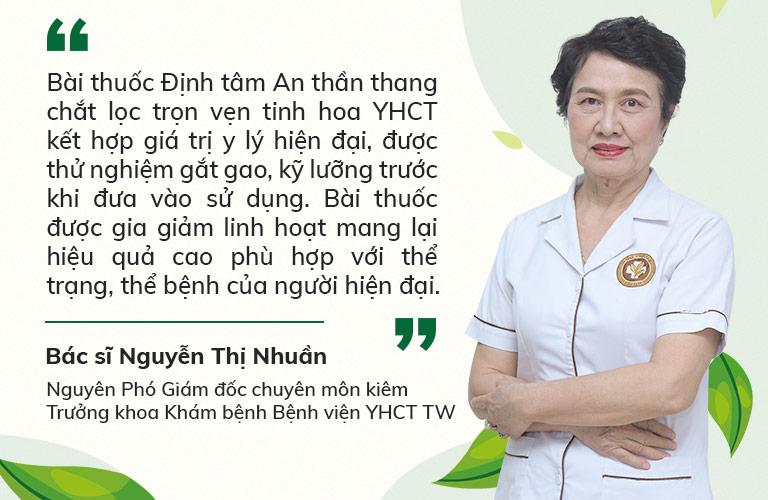 Bác sĩ Nguyễn Thị Nhuần đánh giá về hiệu quả của bài thuốc