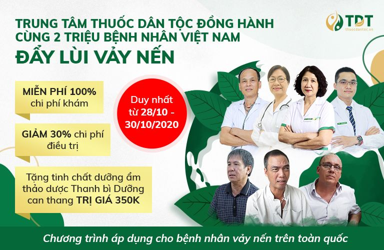 Chương trình ưu đãi chung tay vì bệnh nhân vảy nến của TT Thuốc dân tộc
