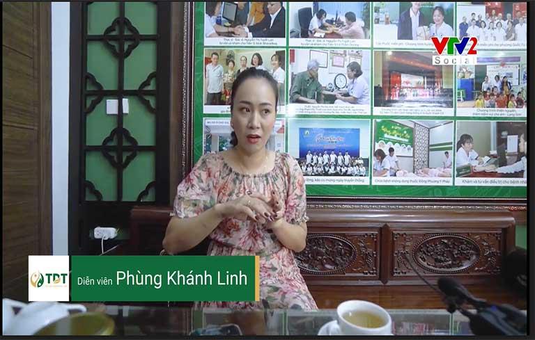 Diễn viên Khánh Linh khỏi bệnh mề đay nhờ Trung tâm Thuốc dân tộc