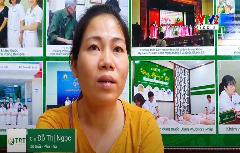 Chị Đỗ Thị Ngọc điều trị khỏi mề đay sau 2 tháng