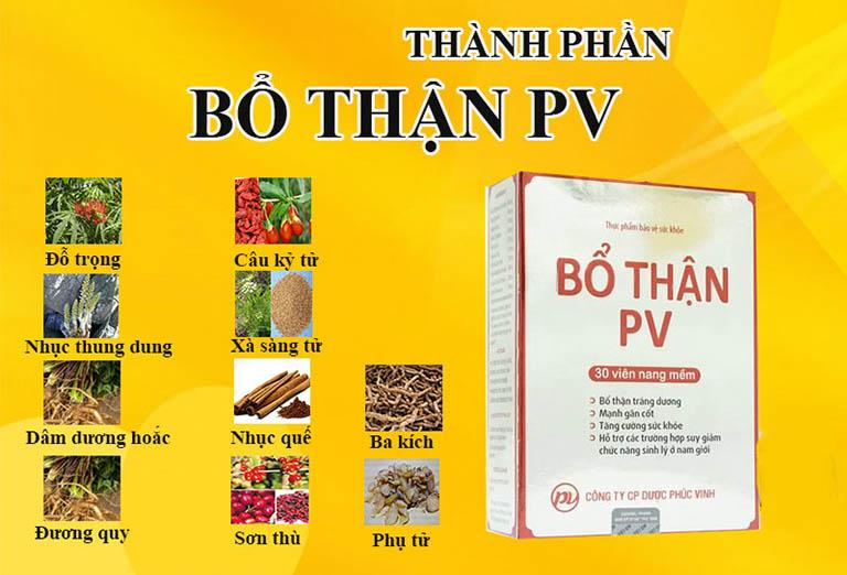 Bổ thận PV là sản phẩm chủ yếu chứa các dược liệu Đông y có nguồn gốc từ thiên nhiên nên tương đối lành tính và ít gây ra tác dụng phụ