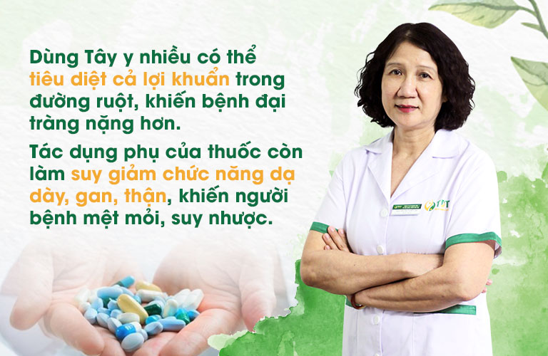 Chia sẻ của Bác sĩ Tuyết Lan về việc sử dụng Tây y chữa bệnh đại tràng
