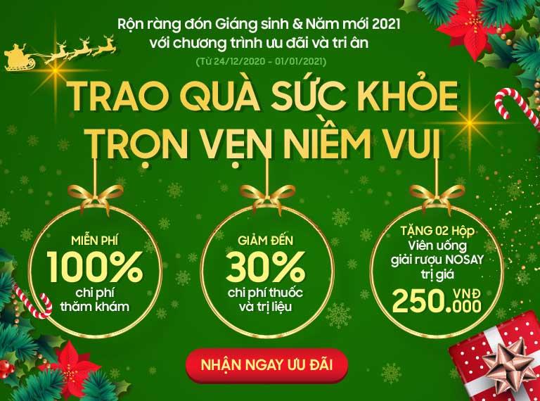Thông tin ưu đãi nhân dịp Noel & Năm mới 2021