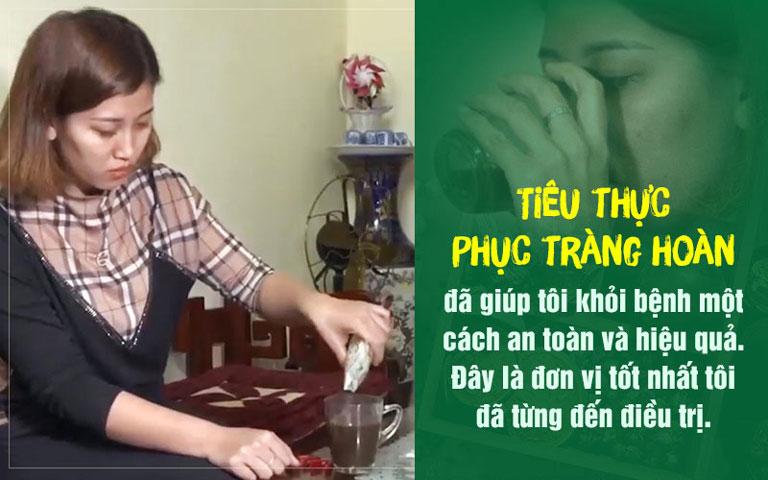 Chị Lê Thị Tuyền điều trị bệnh đại tràng tại Trung tâm Thuốc dân tộc