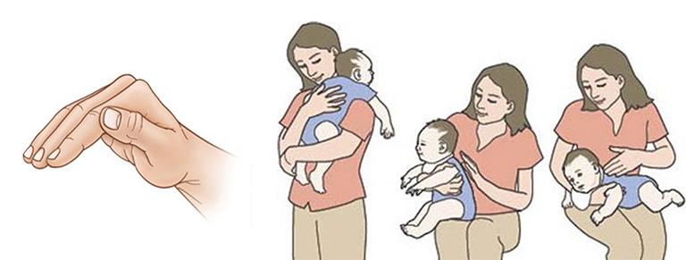 Thực hiện vật lý trị liệu vỗ rung lấy đờm cho trẻ sơ sinh