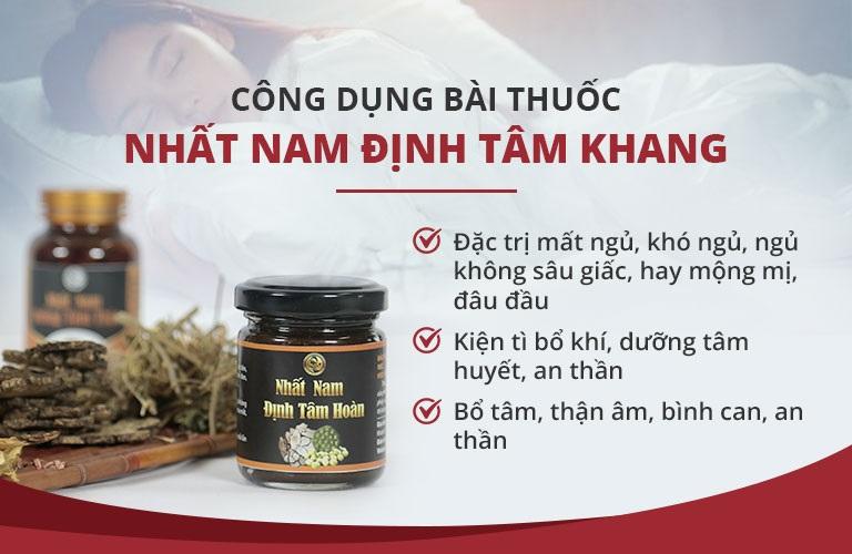Công dụng ưu việt của bài thuốc Nhất Nam Định Tâm Khang