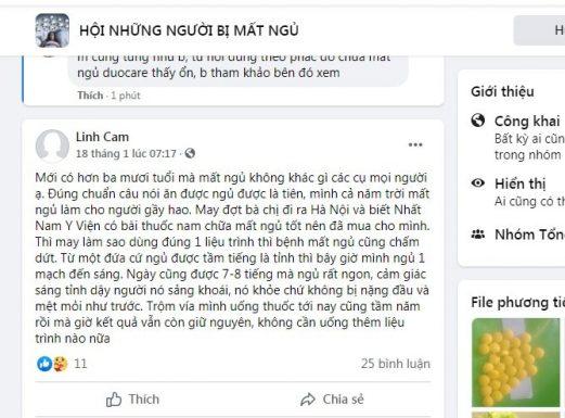 Bình luận của khách hàng về bài thuốc Nhất Nam Định Tâm Khang