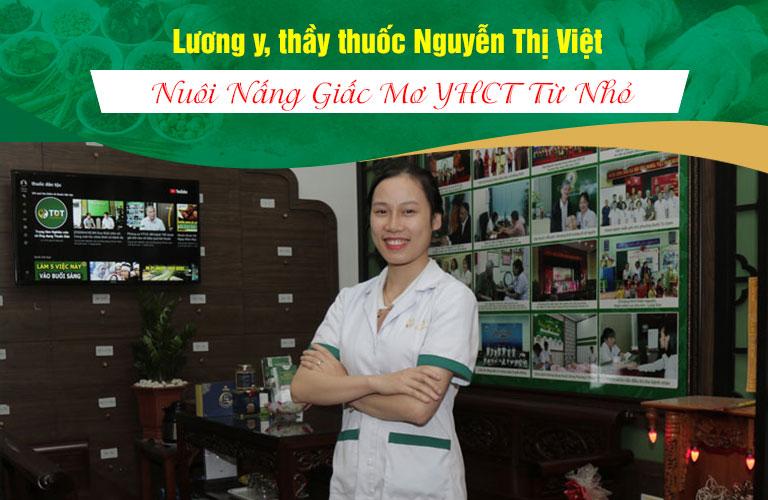 Thầy thuốc Nguyễn Thị Việt nuôi nấng giấc mơ YHCT từ nhỏ