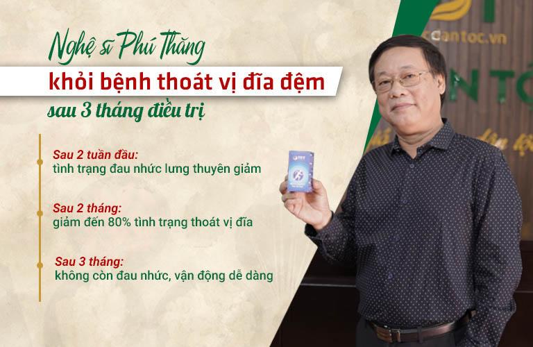 NSƯT Phú Thăng điều trị thoát vị đĩa đệm thành công tại Trung tâm Thuốc dân tộc