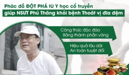 Nghệ sĩ Phú Thăng điều trị dứt điểm thoát vị đĩa đệm tại Trung tâm Thuốc dân tộc