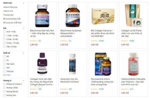 Một số sản phẩm vitamin tại Dr Vitamin