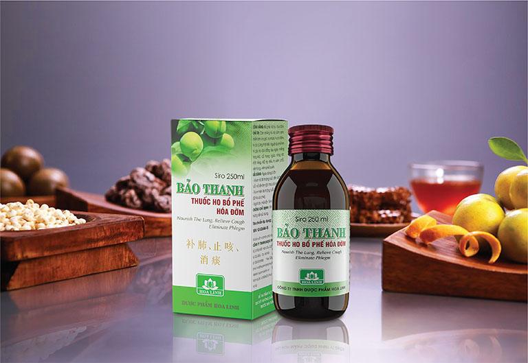 Sản phẩm hỗ trợ trị ho Bảo Thanh là sự kết hợp từ nhiều dược liệu quý hiếm trong tự nhiên như ô mai, mật ong, tỳ bà diệp, xuyên bối mẫu,...